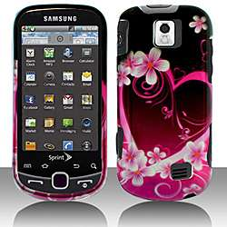 Samsung Intercept M910 Purple Love Snap on Protective Case Cover