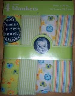 Gerber Flannel Receiving Blankets, Baby Shower, Diaper Cakes