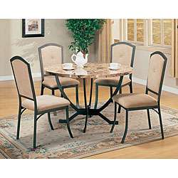 Auburn Faux Marble Top 5 piece Dining Room Set