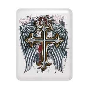 iPad Case White Cross Angel Wings