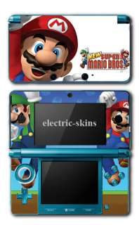 Nintendo 3DS super mario bros. skin kit,mario and luigi video game