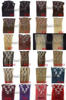 1570g/2280g7PCS Clip In Remy Human Hair Extensions