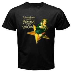 THE SMASHING PUMPKINS Metal Punk Rock Band Mens Black Tee T Shirt Size