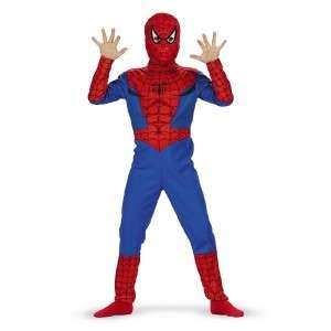 NEW Spiderman Spider Man Boys Halloween Costume Sz 7 8 9 10 Mardi Gras