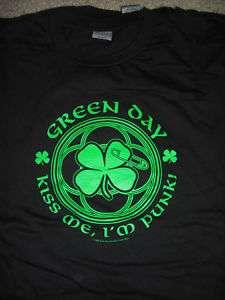 GREEN DAY Kiss Me Im Punk T Shirt **NEW music band concert tour Lg L