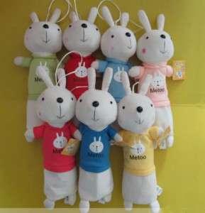 Cute Rabbit Plush Pencil Bag Case Cosmetic Box
