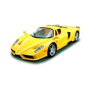 24 Al Ferrari Enzo Assembly Line Model Kit   Yellow Toys & Games