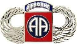 82nd Airborne Division Army Paratrooper Jump Wing P834