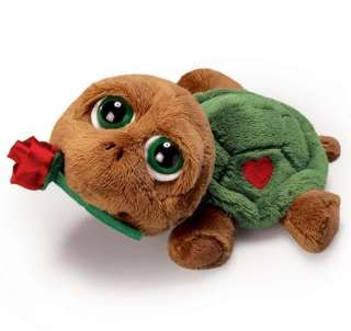 Russ Peepers 15 Shelby Turtle with Rose Large Plush Love Gift, 86608