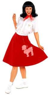 Womens Std. Red 50s Poodle Skirt Costume   Fifties Cost