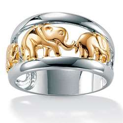 Toscana Collection Two tone Silver Elephant Ring