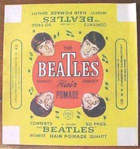 Beatles Vintage Hair Pomade Unused Box Wrapper