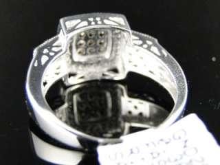 WHITE GOLD CHOCOLATE BROWN DIAMOND WEDDING BAND RING 1/3 CT