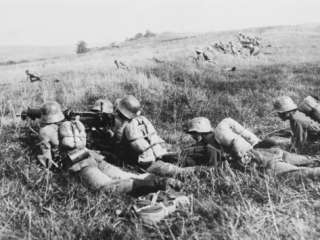 German Cavalry Machine Gun Detachment on the Western Front During