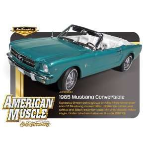 1965 Ford Mustang Convertible Blue Toys & Games