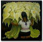 Diego Rivera Mexican Art Ceramic Tile Cala Lily Vendor