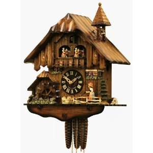 CHALET CUCKOO CLOCKBLACK FOREST WOMAN1 DAY MOVEMENT