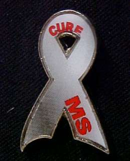 Cure MS Multiple Sclerosis Awareness Ribbon Pin Tac NIB