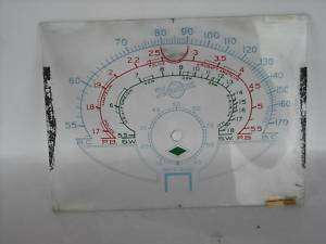 Vintage Howard Short Wave Radio Glass Tuning Dial Face |