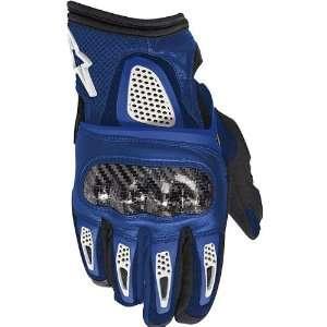 Alpinestars Thunder Mens Textile Road Race Motorcycle Gloves   Blue