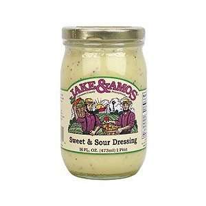 Jake & Amos Sweet & Sour Dressing, Bottle, 16 oz
