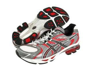 Mens Asics Gel Kinetic 3 Running Shoes T037N 0190 White Onyx Flame
