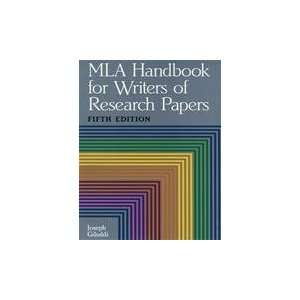 MLA Handbook for Writers of Research Papers, Fifth Edition