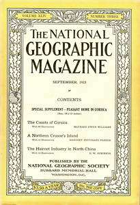 The National Geographic Magazine, September, 1923