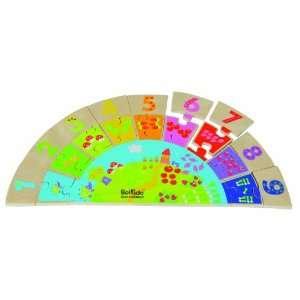 Boikido Eco Friendly Wooden Rainbow Numbers Game oys