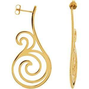 Genuine IceCarats Designer Jewelry Gift 14K Yellow Gold Precious Metal