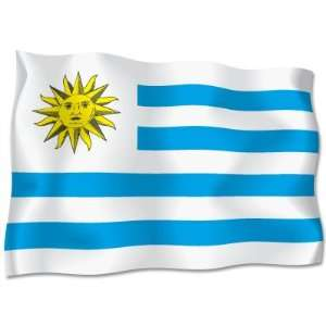 Uruguay Flag car bumper sticker decal 6 x 4