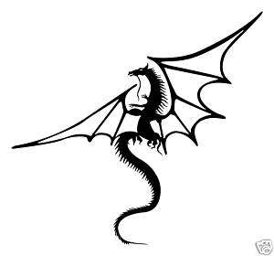 Medieval Dragon 2 feet vinyl wall decal sticker art