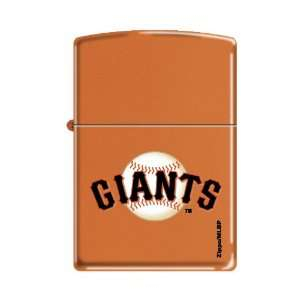 Zippo Lighter MLB San Francisco Giants Orange Matte