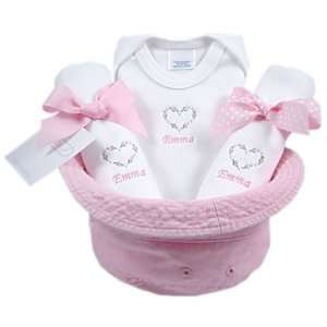 baby girl gift basket bucket: Home & Kitchen