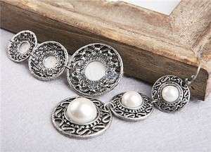 4381 New Fashion Jewelry Antique Silver Pearl like Earrings
