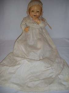 Antique 26 Effanbee Bubbles compo cloth composition baby doll