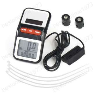 LCD Solar Bicycle Odometer Bike Cycle Computer Speedometer 2419