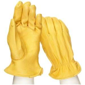 West Chester 9920K Leather Glove, Shirred Elastic Wrist Cuff, 10.13