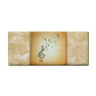 Hand Towel of Vintage Flourished Treble Clef with Music Notes (Piano