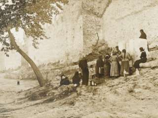 Ladies Collect Water   Constantinople City Walls Photographic Print at