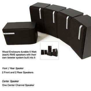 Frisby 5.1 Surround Sound Home Audio Speaker System for PC Computer TV