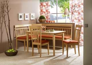 Corner bench dining set booth table chairs kitchen for European breakfast nook