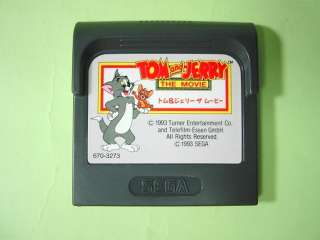 Tom and Jerry the Movie Game Gear GameGear JAPAN USED