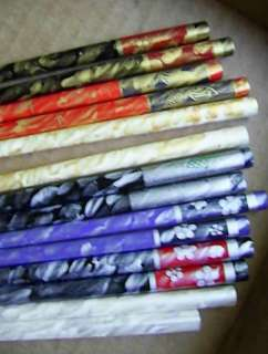 HAND PAINTED 6.5 HAIR STICKS GOLD SILVER Many Choices Blue Green