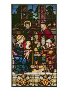 Adoration of the Magi, a Stained Glass Window Originally the Gift of