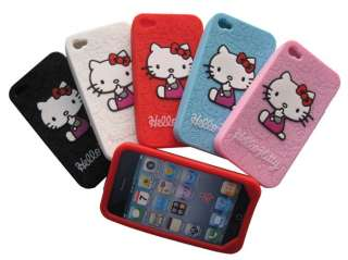 Hello kitty Silicone Case Skin Cover for Apple iPhone 4 4G Protector