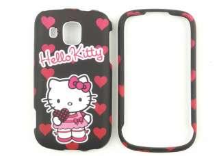 Hello Kitty Black Hard Cover Cellphone Case For Samsung Transform