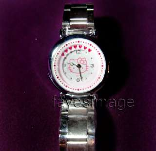 NEW Hello Kitty Stainless Steel Quartz Wrist Watch PINK