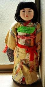 Fine TALL Japanese GEISHA Kimono Ichimatsu hina Nihon GOFUN Ningyo