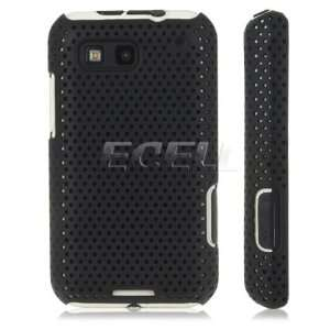 Ecell   BLACK PERFORATED MESH HARD CASE COVER FOR MOTOROLA